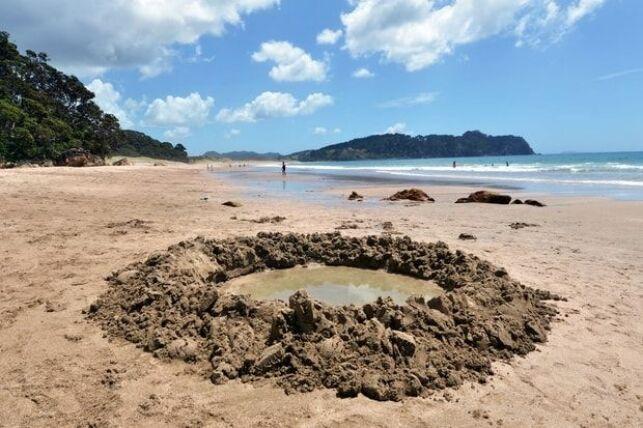 Un petit bassin privatif pour vous prélasser et profiter des bienfaits de l'eau chaude sur la plage