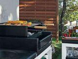Un pool house avec cuisine d'été