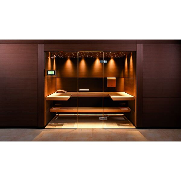 Un sauna design le luxe adapt votre int rieur Decoration noir or luxe classe