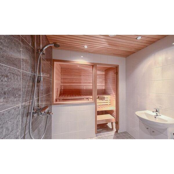 Un sauna douche gain de place et hygi ne for Salle de bain hammam