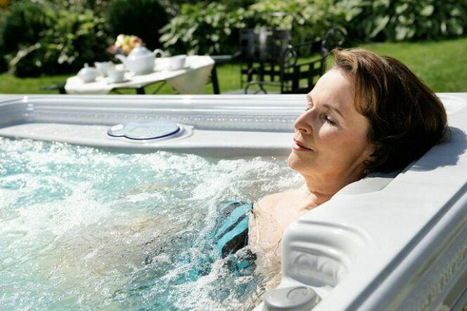 Un spa avec aquabike intégré