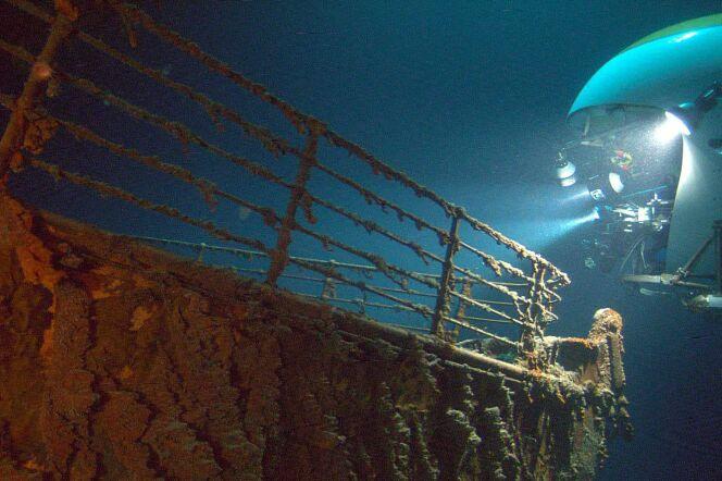 """Une agence de voyage britannique vous propose de plonger à 3600m sous l'eau pour voir de vos yeux la célèbre épave du Titanic.<span class=""""normal italic petit"""">DR</span>"""