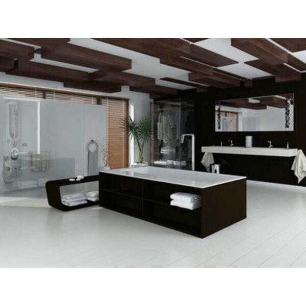 Une Baignoire Balnéo Noire Est Un élément De Décoration Indispensable Pour  Une Salle De Bain Design