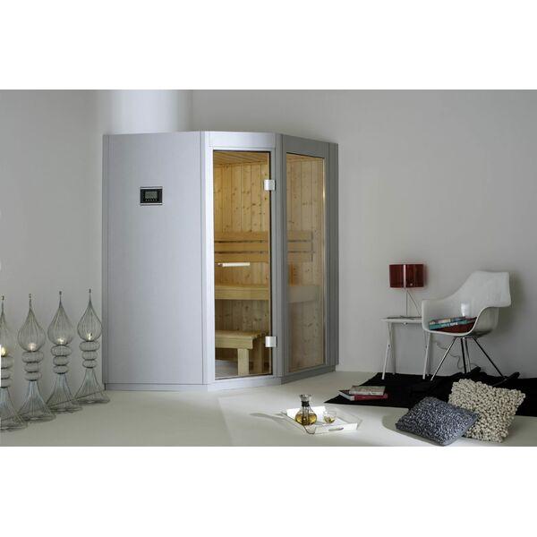une cabine sauna votre s ance de sauna domicile. Black Bedroom Furniture Sets. Home Design Ideas