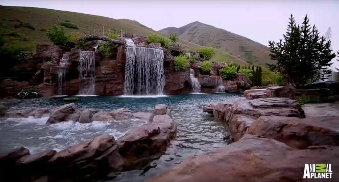 Une impressionnante piscine de luxe dans l'Utah