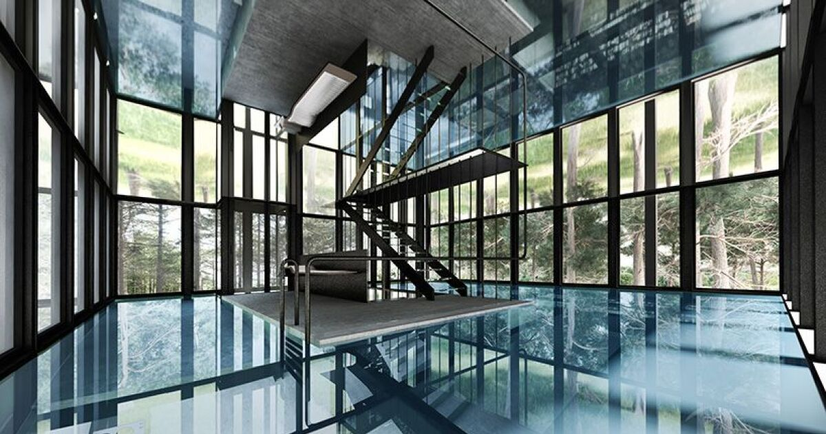 une maison avec piscine sur tout un tage. Black Bedroom Furniture Sets. Home Design Ideas