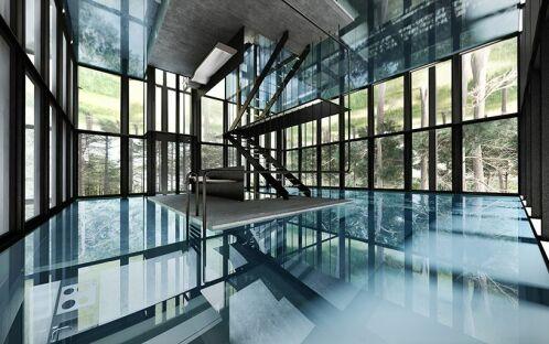 Une maison avec piscine…sur tout un étage !
