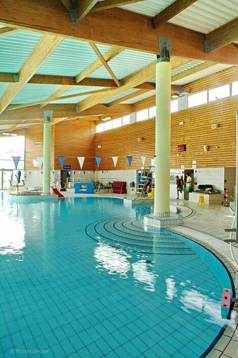 "Une partie du bassin de la piscine Nautil'ys au Crozon<span class=""normal italic petit"">© Nicolas Gautier</span>"