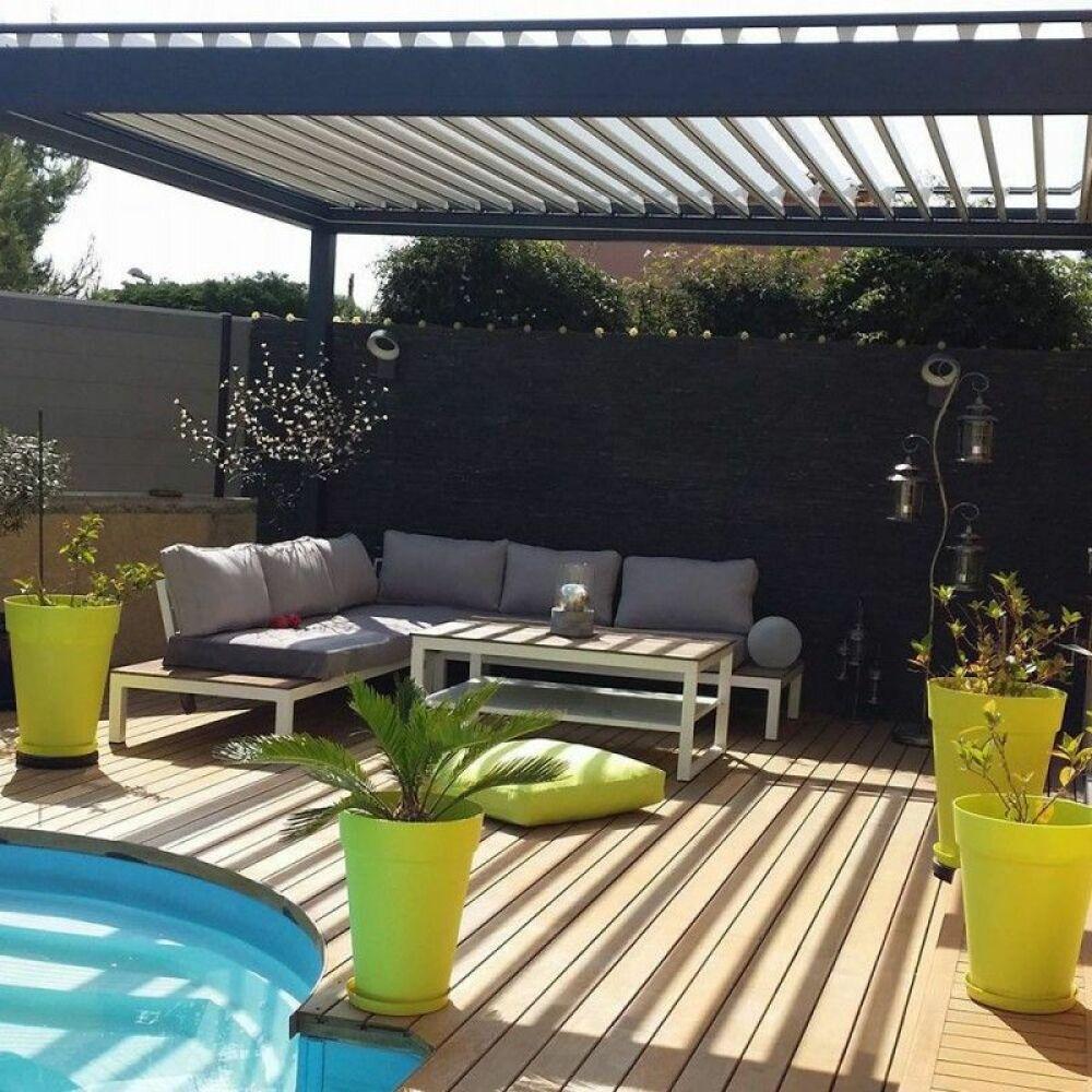 Une pergola bioclimatique Alsol, pour aménager vos espaces extérieurs© Alsol