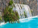 Une piscine à l'aspect naturel