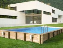 Une piscine avec ossature bois : esthétique et stable