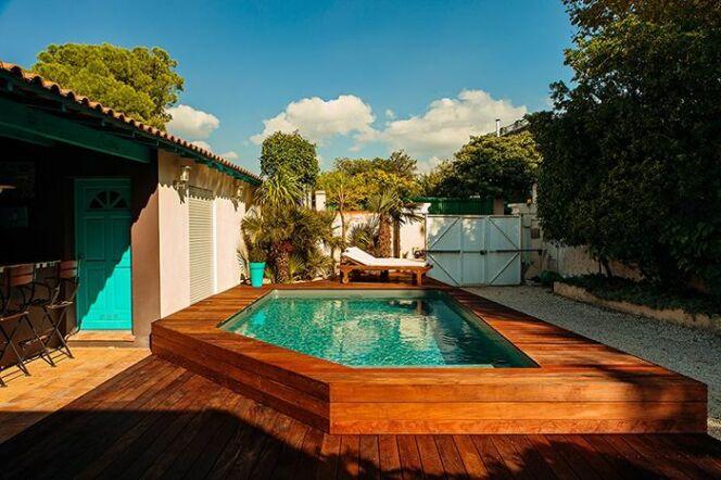 Une piscine bois, par Bluewood
