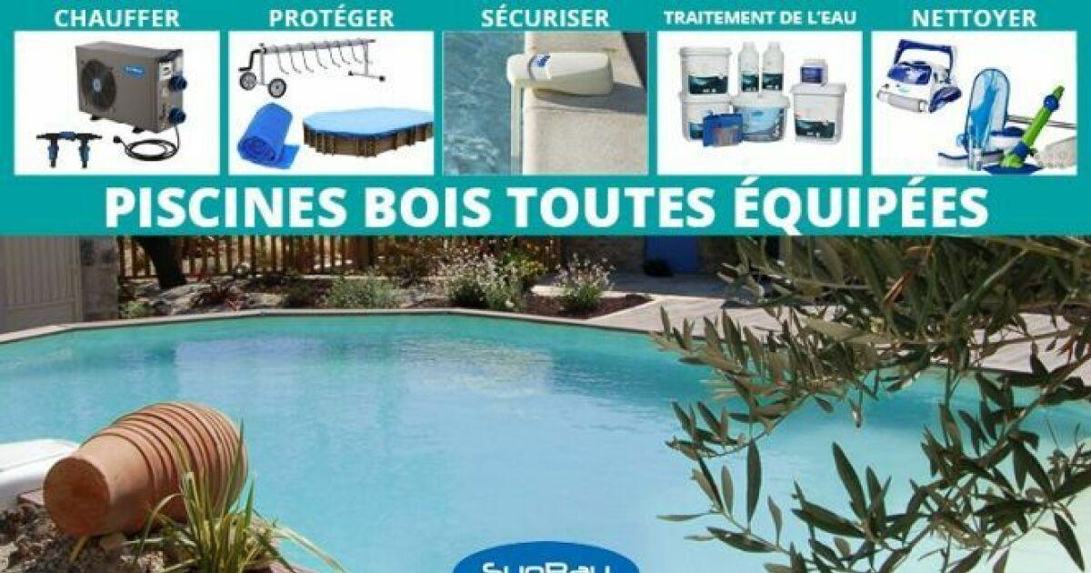 Une piscine en bois toute quip e avec jardimagine for Achat piscine en bois