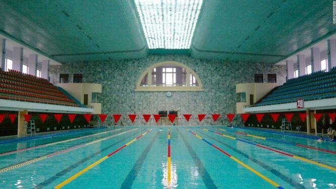 Une piscine en Corée du Nord