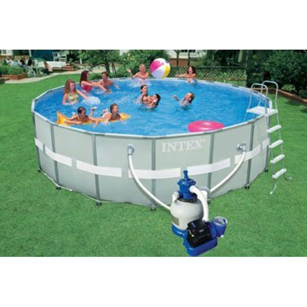 Une piscine intex hors sol dans votre jardin for Piscine dans le sol