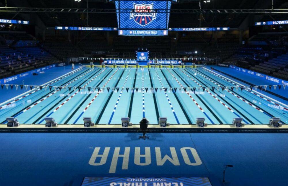 Une piscine olympiques, construite par Myrtha Pools pour les US Olympic Team Trials à Omaha© Myrtha Pools