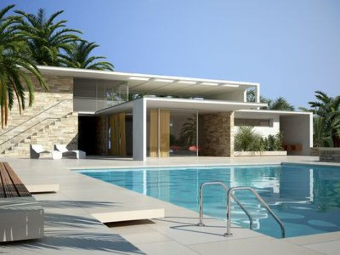 """Une piscine sans margelles<span class=""""normal italic petit"""">© Fotolia_46368820</span>"""