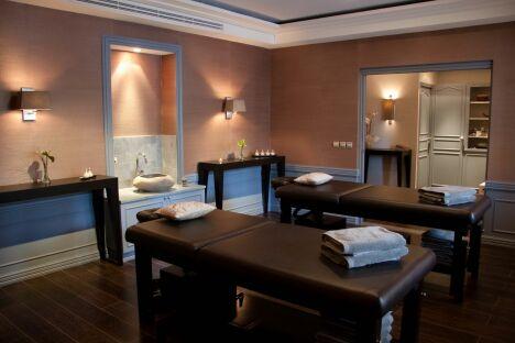 """Une salle de soins double au spa de l'hôtel Pigonnet à Aix-en-Provence<span class=""""normal italic petit"""">DR</span>"""