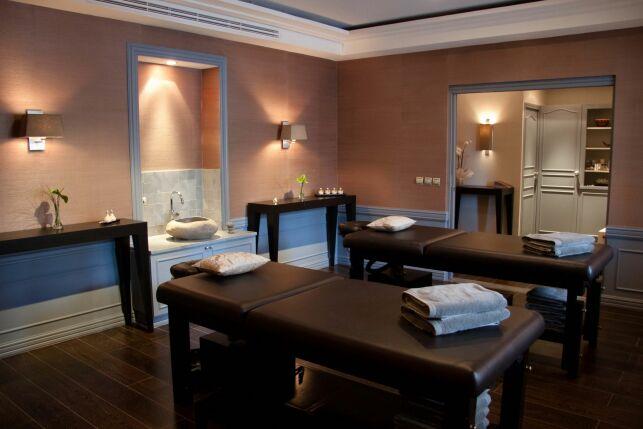 Une salle de soins double au spa de l'hôtel Pigonnet à Aix-en-Provence