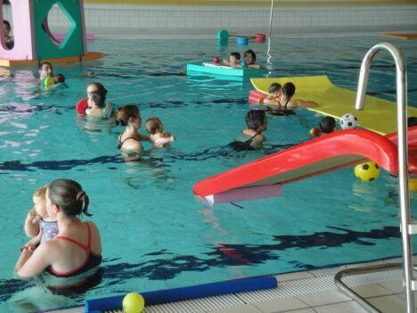 """Une séance de jardin aquatique à la piscine de Dompierre sur Besbre<span class=""""normal italic petit"""">DR</span>"""