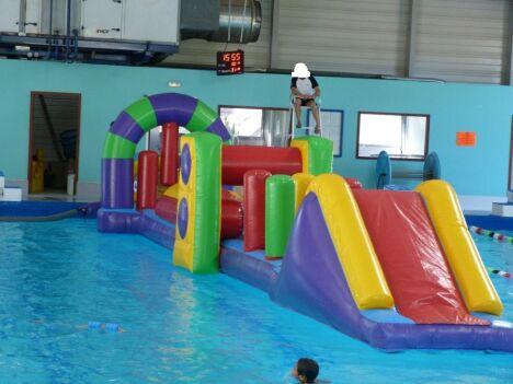 """Une structure gonflable pour les enfants à la piscine de Viroflay<span class=""""normal italic petit"""">DR</span>"""