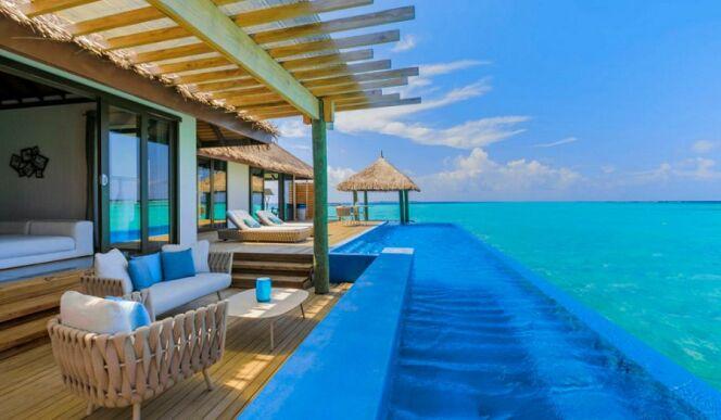 Une vue imprenable sur l'océan au Velassaru Hotel