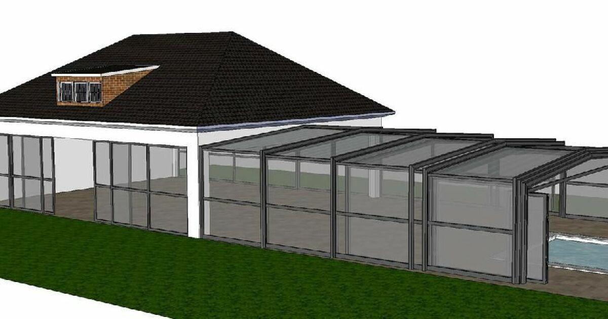 V randa t lescopique octavia for Abri de piscine veranda
