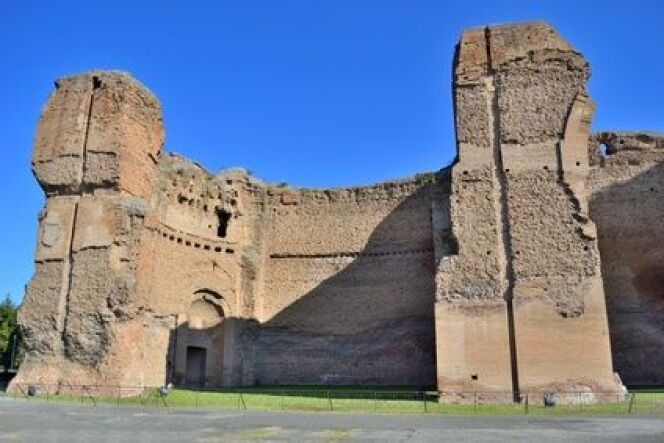 "Vestiges du laconicum des thermes de Caracalla à Rome.<span class=""normal italic petit"">© fusolino - Fotolia.com</span>"