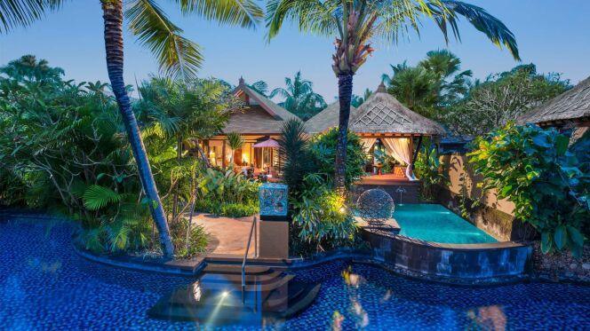 une magnifique piscine lagon dans cet h tel de bali. Black Bedroom Furniture Sets. Home Design Ideas