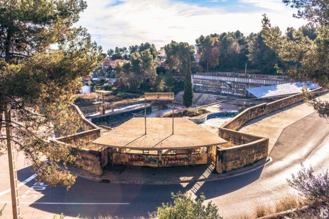 Vision globale de la piscine Olympique de la Vega