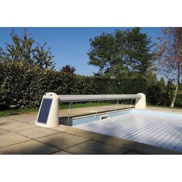volet hors d 39 eau nu piscine alimentation solaire open. Black Bedroom Furniture Sets. Home Design Ideas
