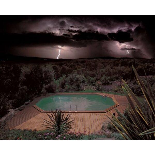 piscine tubulaire orage