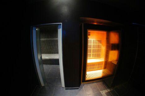 """Le hammam et le sauna<span class=""""normal italic petit"""">© Voyage Ô Spa</span>"""