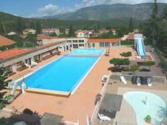 Vue aérienne de la piscine de Vernet les Bains