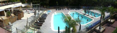 "Vue panoramique du Sporting Club Espaces Antipolis <span class=""normal italic petit"">DR</span>"