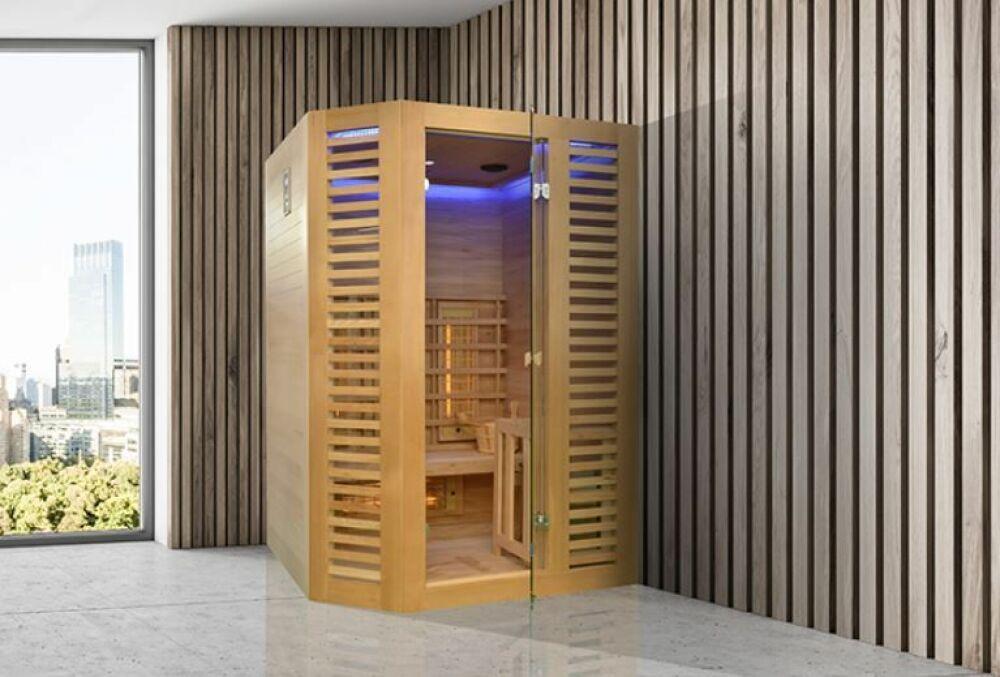 Zoom sur le sauna Ventian Hybrid, par Holl's© Holl's