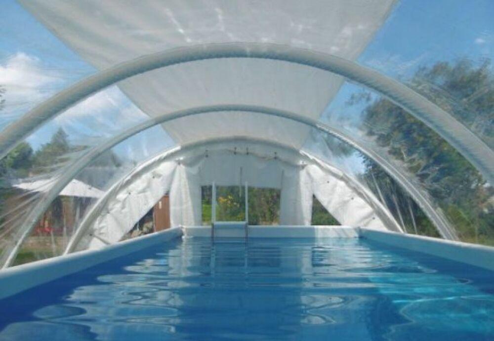 Zoom sur les abris de piscine gonflables Techniflex© Techniflex