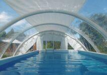 Zoom sur les abris de piscine gonflables Techniflex