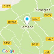 Plan Carte Style & Piscine à Saméon