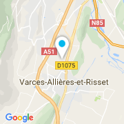 Plan Carte MCP (Matériaux Créa'Piscines) à Varces Allières et Risset