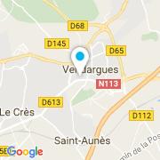 Plan Carte Piscines du Midi à Vendargues