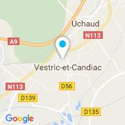 Plan Carte Vestric Composites à Vestric et Candiac