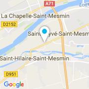 Plan Carte Wood-Line Orléans Passion d'O Piscines à Saint-Pryvé-Saint-Mesmin