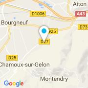 Plan Carte Wood-Line Piscines Chambéry à Chamoux-sur-Gelon