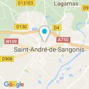 Plan Carte Bel'O Piscine et Jardin à Saint-André de Sangonis