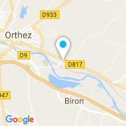 Plan Carte Cash Piscines à Orthez