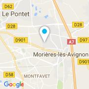 Plan Carte Aqua Sponda à Morières Les Avignons