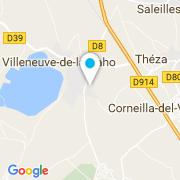 Plan Carte Les Piscines du Lac à Villeneuve-de-la-Raho