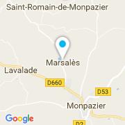 Plan Carte Larpe Pascal à Marsalès