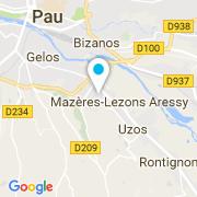 Plan Carte SD Piscines 64 à Mazères-Lezons